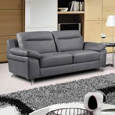 nuvola dark grey leather sofa 3 seater settee