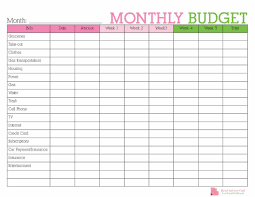 Monthly Budget Planning Keep Track Of Your Monthly Expenditures With This Free