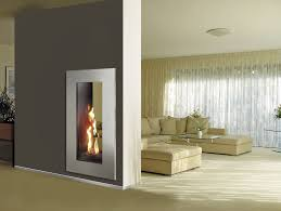 gas fireplace contemporary closed double sided