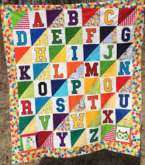 183 best ABC LETTER QUILTS images on Pinterest | Letters, A letter ... & Baby Alphabet quilt Adamdwight.com