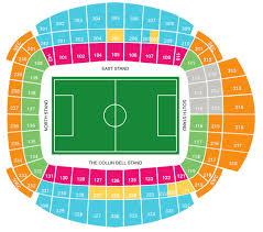 Uk Football Stadium Seating Chart Football League Ground Guide Manchester City Fc Etihad