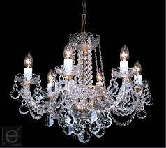 czech crystal chandelier 6 arms w x h 56 x 44