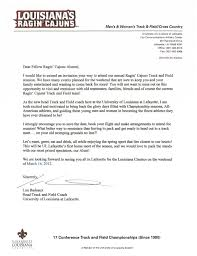 Welcome Letter From Lon Badeaux Head Track And Field Coachwelcome