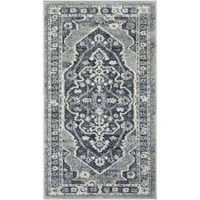 pearl republic 2 ft 3 in x traditional dark grey area rug solid n dark gray