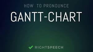 Gantt Chart Pronunciation Gantt Chart How To Pronounce Gantt Chart