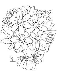 Easy Flower Coloring Pages Unique Print Out Design Printable Sheet