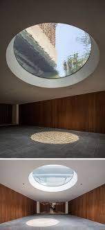 In the entrance to this home, there's a large skylight, that shows water  from