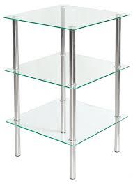 three tier glass table