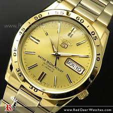 buy seiko 5 gold tone automatic day date mens watch snke06k1 seiko 5 gold tone automatic day date mens watch snke06j1 snke06