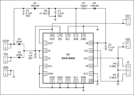 led driver design for automotive rear lighting application note circuit schematic of evaluation board for the max16804 high brightness led driver