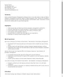 Resume Templates: Emergency Management