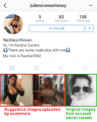Spam Account Hacked Instagram Accounts Seducing Users With Adult Dating Spam