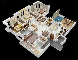 4 bedroom house designs. Simple Bedroom 4 Bedroom 3d House Plans Indian Style With Designs H