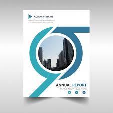 cubierta creativa redonda de reporte anual vector gratis