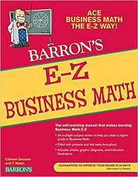 business math amazon com e z business math barrons easy series