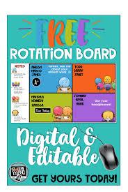 Center Rotation Chart Math Workshop Centers Rotation Chart Cassi Noack