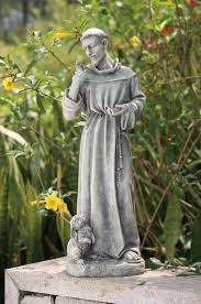 st francis garden statue with rabbit 24