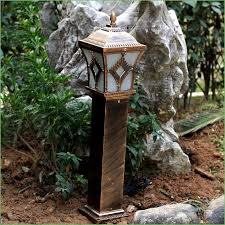 lighting aluminumsolar power post lamp outdoor waterproof landscape corridor porch path light lamp pillar bollard
