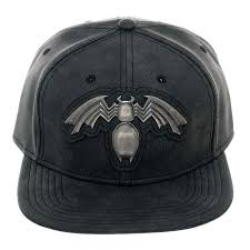 Venom Metal Distressed Black Snapback Hat | SuperheroDen.com