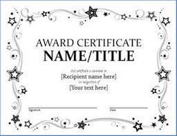 Award Certificate Templates Free Award Certificate Template Free Printable Sample 2716
