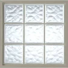 Acrylic Block Fixed Vinyl Glass Window In Driftwood Cube