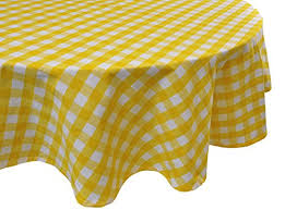 buffalo plaid tablecloth ideal for home restaurants cafés be it for everyday dinner parties picnic holiday or occasions 70 round yellow and white