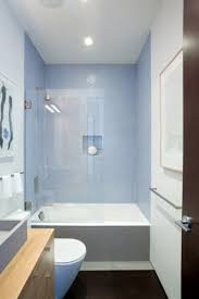 small narrow bathroom ideas with tub. small bathroom pic ~ clean lines, short tub, muted palette blue + gray wood (alta plaza residence, j. narrow ideas with tub l