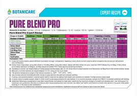 House And Garden Nutrients Chart Nutrient Feed Charts One Stop Grow Shop