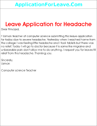 Application Letter Format For Leave School Sample Resume Job