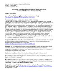 Nih F32 Ruth L Kirschstein National Research Service Awards For