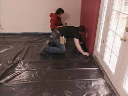 create moisture barrier with plastic sheeting