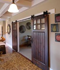 Doors: Bathroom Sliding Barn Door With Mirrors - Sliding Doors