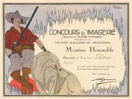 Honorable Mention Certificate Portrait De Nestor Fenleroc Honorable Mention Certificate By Marcel Jacques Hemjic On Ursus Books Ltd