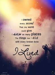 The Song From OneRepublic Called I Lived That Inspired Me Along Adorable Inspiring Song Lyrics