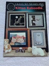 Kitten Kaboodle Cat Cross Stitch Leaflet Chart Book Cross My