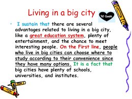 paragraph and essay rosmery goals living in a big city