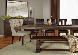 rectangle extension rustic java dining table