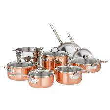 viking cookware set. Plain Set Viking 13Piece TriPly Copper Cookware Set In Samu0027s Club