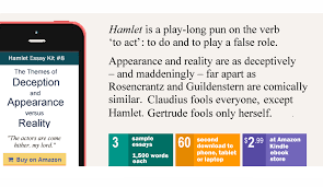 hamlet theme of appearance versus reality sample essays