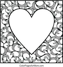 valentine color pages heart mandalas coloring book kids hearts to printable disney frozen