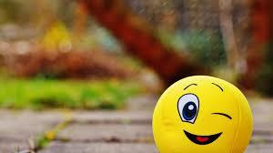 Yellow Emoji In Blur Background HD ...