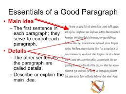 how to write source cards for research papers the research paper  essentials of a good paragraph main idea the first sentence in each paragraph they