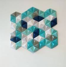diy paper wall art with origami