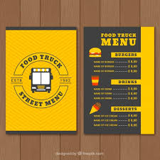 Food Menu Design Food Truck Menu Design Stock Images Page Everypixel