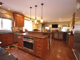 Kitchen:Vintage Compact Island With Cooktop And Oven Ideas Lus Rectangular  Rug Also Trendy Wood
