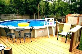 image of above ground pool deck kits wooden wood swimming build from scratch