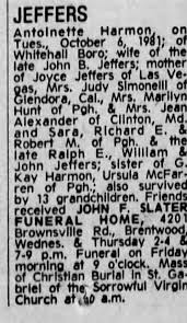 Obituary for Antoinette JEFFERS - Newspapers.com