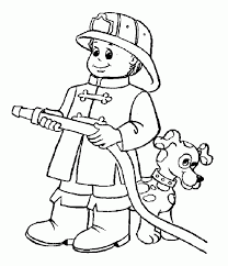 Small Picture Fireman Coloring Pages A Great Fireman Coloring Page For Kids