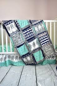 navy blue cribs custom elephant crib set in gray mint and navy blue for an elephant nursery navy blue crib bedding canada
