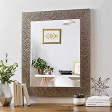 framed bathroom mirrors. Metallic Silver Block Framed Mirror, 29.5x35.5 In. Bathroom Mirrors E